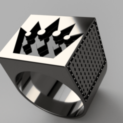 Download free OBJ file Brutal Crown Ring • 3D printable model, quaddalone