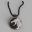 Download 3D printing models The Witcher Medallion, quaddalone