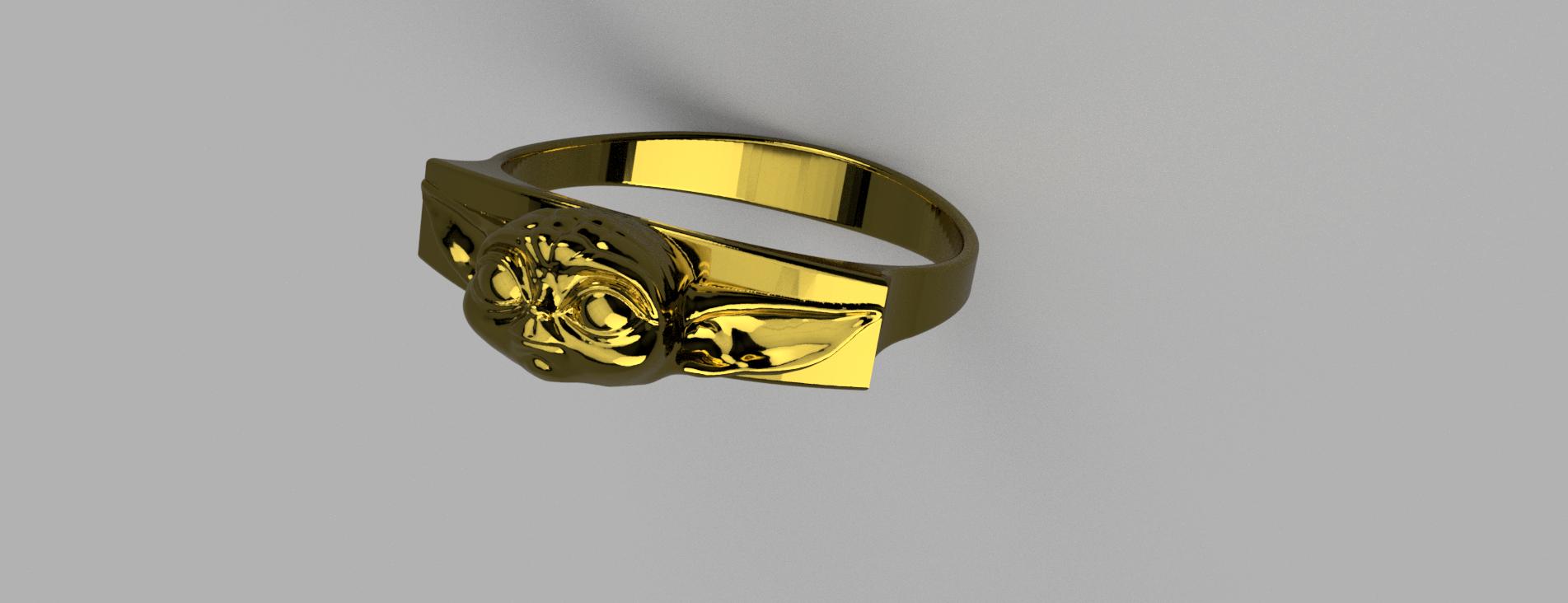 Baby_Yoda_Ring_17mm_Cut(FINAL)1.png Télécharger fichier STL gratuit Bébé Yoda Ring • Plan pour imprimante 3D, quaddalone