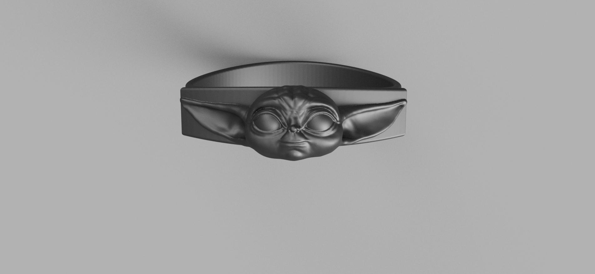 Baby_Yoda_Ring_17mm_Cut(FINAL).png Télécharger fichier STL gratuit Bébé Yoda Ring • Plan pour imprimante 3D, quaddalone