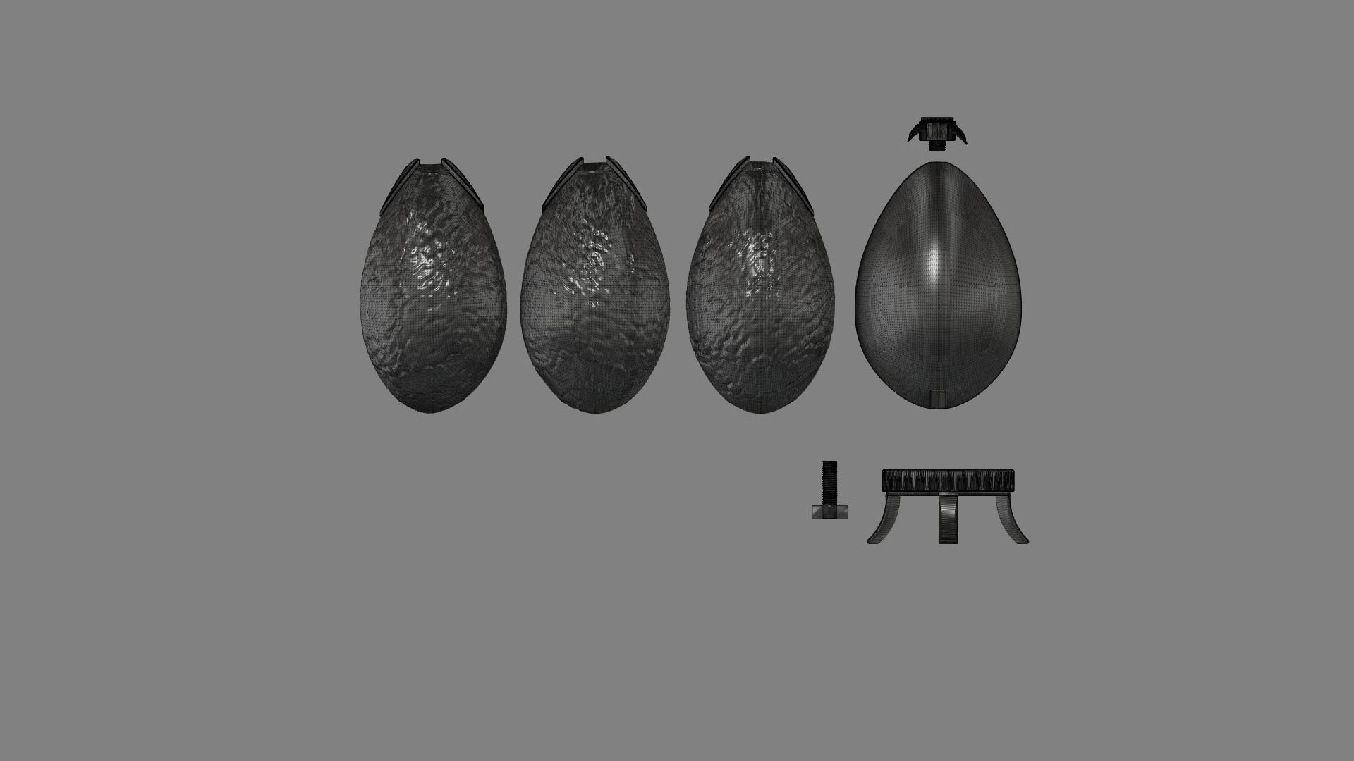Harry Potter Egg (obj).png Télécharger fichier OBJ gratuit Modèle d'impression 3D de Harry Potter et la Coupe de feu (Oeuf) • Objet à imprimer en 3D, quaddalone