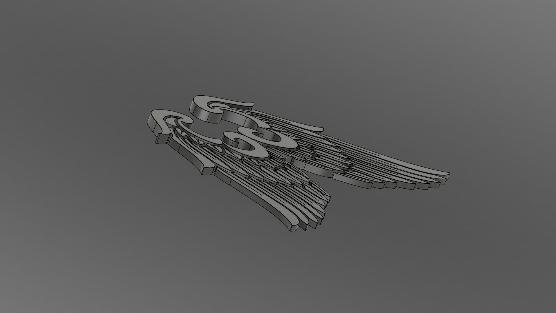 4.png Download free OBJ file Wings • 3D print model, quaddalone