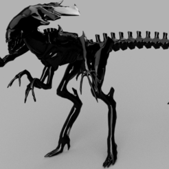 Download free 3D print files Low Poly Xeno Queen, quaddalone
