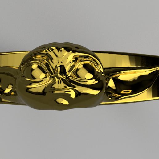 Baby_Yoda_Ring_17mm_Cut(FINAL)2.png Télécharger fichier STL gratuit Bébé Yoda Ring • Plan pour imprimante 3D, quaddalone