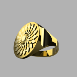 Download free 3D printing templates Ring Flower-Sun, quaddalone