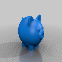 Download free 3D printer designs Kids Piggy Bank, xEliteAnubisx