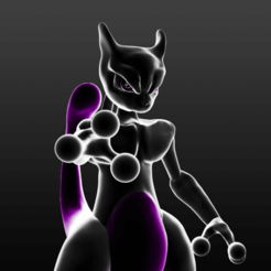 Télécharger modèle 3D gratuit Mewtwo, xEliteAnubisx
