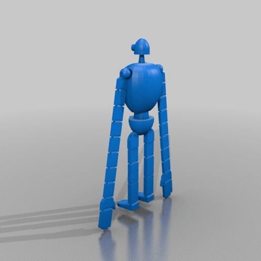 Download free STL files Laputa Robot, xEliteAnubisx