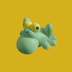 Télécharger fichier STL gratuit Mignonne grenouille • Modèle pour imprimante 3D, marmitage