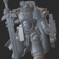 2020-08-29_19-31-42.jpg Download free STL file Gravis Aggressor Knight Champion • 3D print design, GobotheFraggle