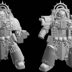 2020-10-30_23-36-15.jpg Download free STL file Heavy Armored Chaplain Plain • Object to 3D print, GobotheFraggle