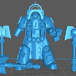 2020-07-17_15-05-54.png Download free STL file Chaplain of Titan in Heavy Armor • 3D printing model, GobotheFraggle