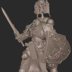 2020-09-04_10-48-24.jpg Download free STL file Black Templar BladeGuard Champion • Model to 3D print, GobotheFraggle
