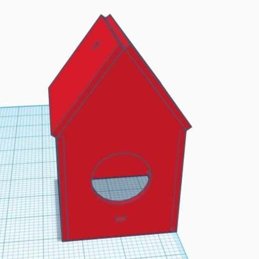 Télécharger fichier STL gratuit Petite maison d'oiseaux découpée au laser • Modèle pour impression 3D, SlowTurtles