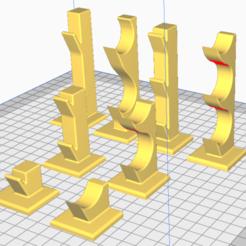 supports couteaux.png Télécharger fichier STL support couteau • Modèle à imprimer en 3D, triple-andouille