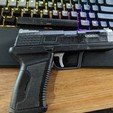 Download free 3D printer designs 3DWB Armory Pistol, synnronline