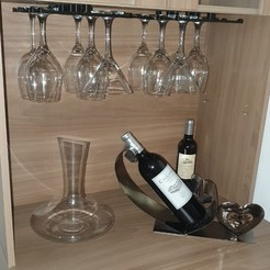 Download 3D printer templates Wine Glass Holder, LozuryTech