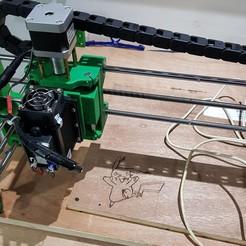 20180703_041347.jpg Download free STL file Porta Láser y Porta Fresa para CNC • 3D print model, LozuryTech