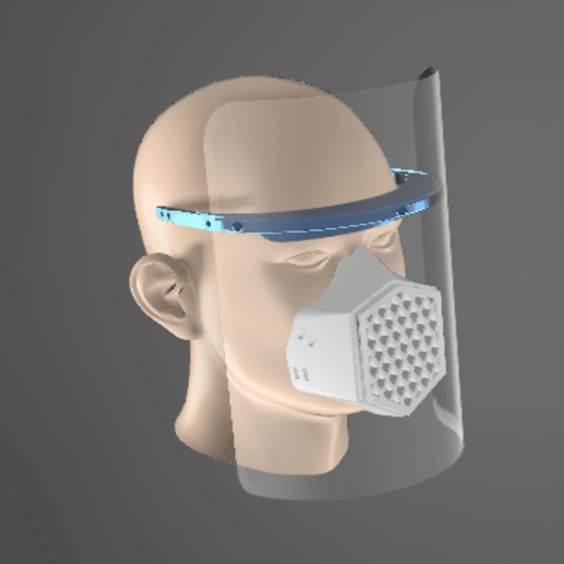 Visera Lozury v8.png Download free STL file Acetate Chalk for Physicians COVID-19 (under development) • 3D printing model, LozuryTech