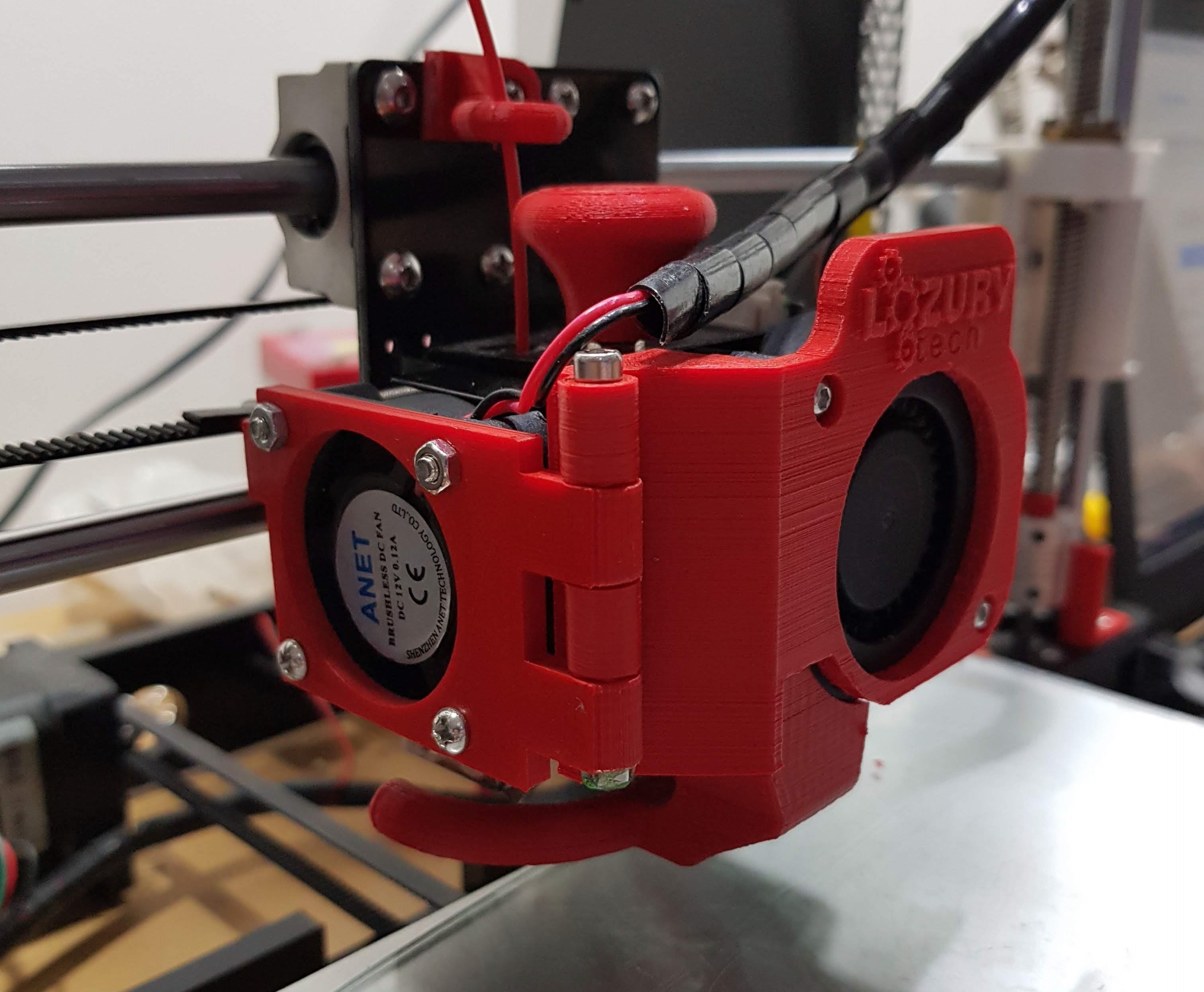 20180530_233235.jpg Télécharger fichier STL gratuit Modification du ventilateur de l'extrudeuse Anet A8 (porte) • Plan pour impression 3D, LozuryTech