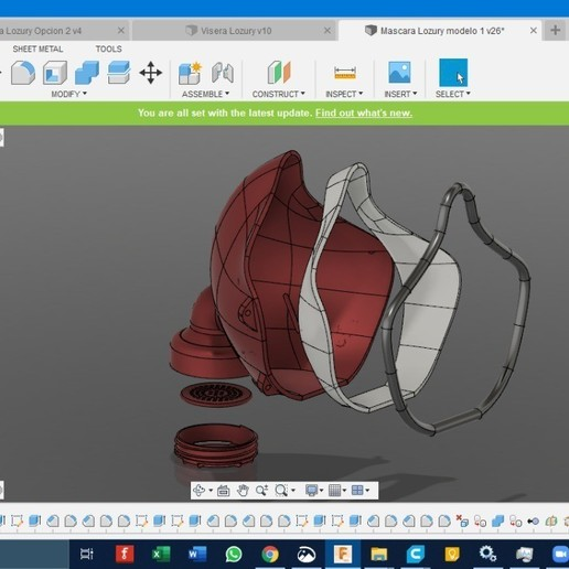 Download free 3D printer templates N95 filter mask (under development and testing), LozuryTech