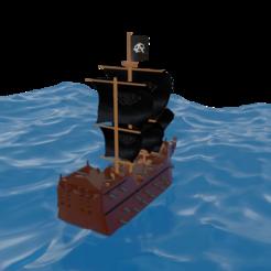 barco4.png Download free STL file Pirate ship • 3D printer model, alextab