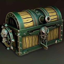 2.jpg Download STL file Pirate chest • 3D print model, Haridon