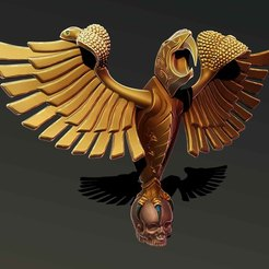 Download 3D printing templates Eagle statue, Haridon
