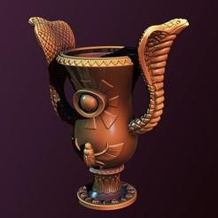 2.jpg Télécharger fichier STL Pot de fleurs Egypte • Plan à imprimer en 3D, Haridon