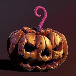 1.jpg Télécharger fichier STL Citrouille d'Halloween • Design imprimable en 3D, Haridon