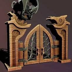2.jpg Download STL file Fantasy door • Template to 3D print, Haridon