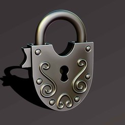 Download free STL simple lock, Haridon