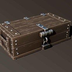 Download STL file wooden box, Haridon