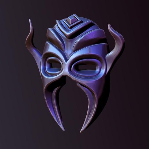 Download 3D printer files Horned mask, Haridon