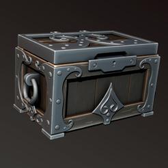Download 3D printer templates Wooden chest, Haridon