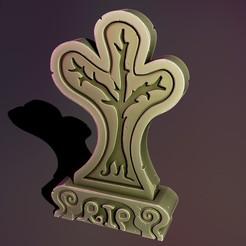 2.jpg Télécharger fichier STL Arbre de pierre tombale fantaisiste • Plan à imprimer en 3D, Haridon