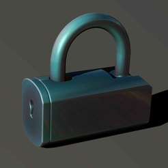 Download free 3D printing designs simple lock 2, Haridon
