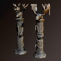 Download 3D printer designs Column elk and deer, Haridon
