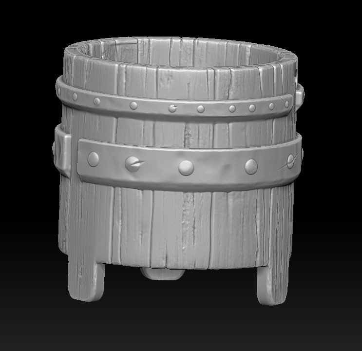 9.jpg Download STL file witch bucket • 3D printable template, Haridon