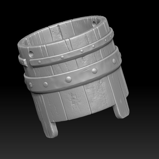 10.jpg Download STL file witch bucket • 3D printable template, Haridon