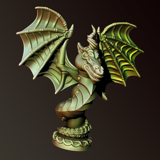 Download STL files Dragon snake, Haridon
