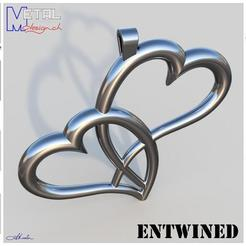 pendentif_Coeurs-Présentation.jpg Download free STL file Entwined • 3D print template, albertkarlen