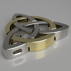 Celtic pendant1.png Download STL file Celtic Pendant • 3D printing model, albertkarlen