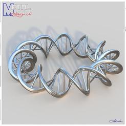 Bracelet_N4-Présentation.jpg Download free STL file Bracelet ADN • 3D print design, albertkarlen