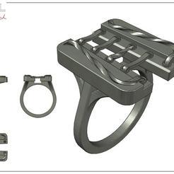 Bague_1.jpg Download free STL file Bague Lacet • 3D print design, albertkarlen