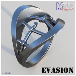 Bague_N31-Présentation.jpg Download free STL file Bague évasion • 3D printer object, albertkarlen