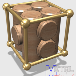 Download free OBJ file Puzzle bois et bronze • 3D printable design, albertkarlen