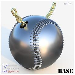 baseball-Présentation.jpg Download free STL file Baseball • 3D print template, albertkarlen