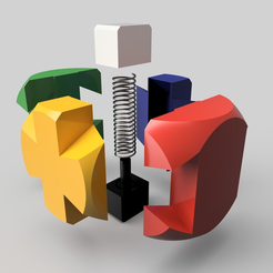puzzle1.1-éclaté.PNG Download free STL file Puzzle cube 1.1 • 3D printable template, albertkarlen