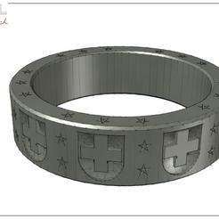 Anneau_CH-A4_JPG_Paysage.jpg Download free STL file Anneau 1er aout • Design to 3D print, albertkarlen